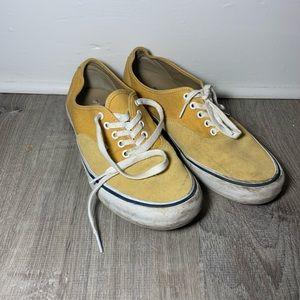 Yellow Vans Authentic Pro size 11